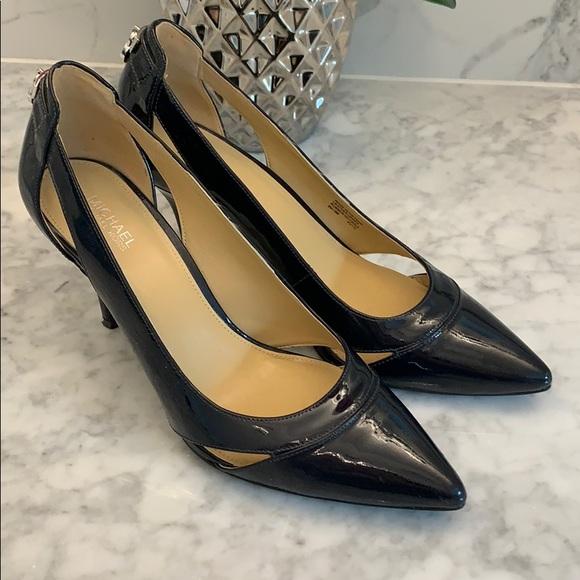 Michael Kors Navy Patent Leather Heels
